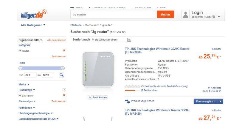 Mobile UMTS-Hotspots gibt es bereits ab 30 oder 40 Euro, Modelle mit schnellem LTE kosten mindestens das Doppelte.