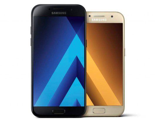 Galaxy A5: Smartphone mit 2 16-P-Kameras und Schutz vor Wasser und Staub