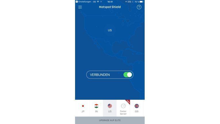 Hotspot Shield bietet schnelle und effiziente Anbindungen an das Internet über VPN