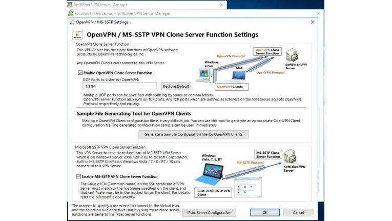 Tools wie Softether erlauben das schnelle und einfache Installieren eines eigenen VPN-Servers