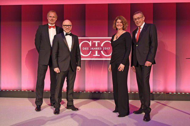 Freuen sich auf Ihre Bewerbungen (von links): Horst Ellermann, Michael Beilfuß, Karen Funk und Heinrich Vaske.