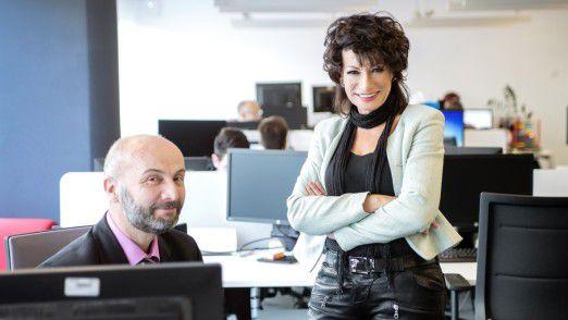 Angela Weißenberger mit Novica Bosnic, Abteilungsleiter des Competence Center SAP.