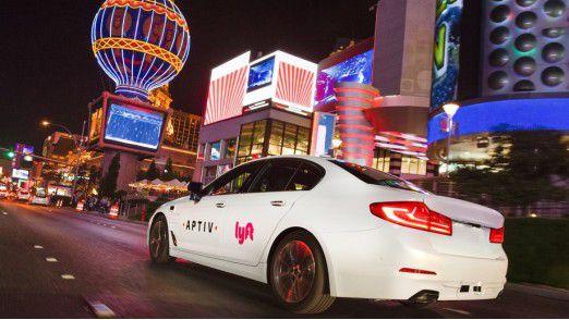 Lyft 5er von Aptiv: Dieser BMW fährt bereits selbst.
