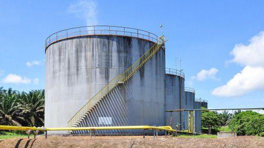 Palmöl-Tanklager in Malaysia