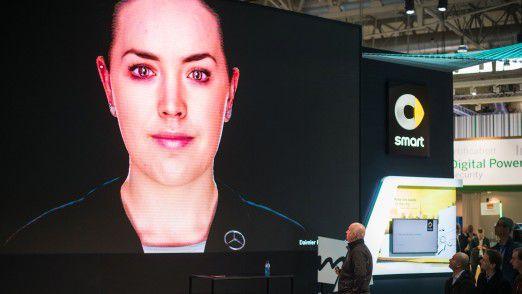 Der neue Avatar von Daimler Financial Services hilft bei der Kundenberatung.