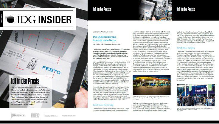"""IDG Insider """"IoT in der Praxis""""."""