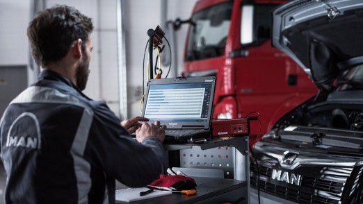 """MAN setzt für die Vernetzung im After-Sales-Bereich auf die Solera-Plattform """"Digital Garage""""."""