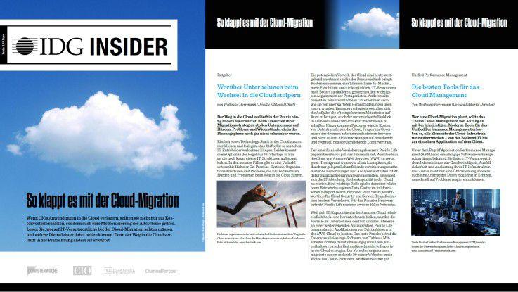 Laden Sie sich Ihren kostenlosen IDG Insider zum Thema Cloud-Migration herunter.