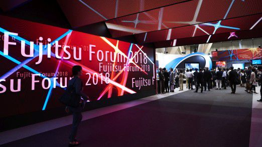 Eingang zum Fujitsu Forum 2018 im Tokio International Forum
