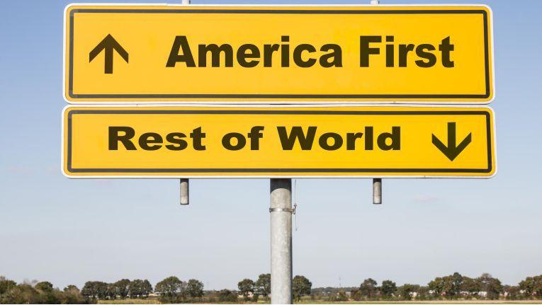 """Das Credo von US-Präsident Trump lautet: """"America first"""""""