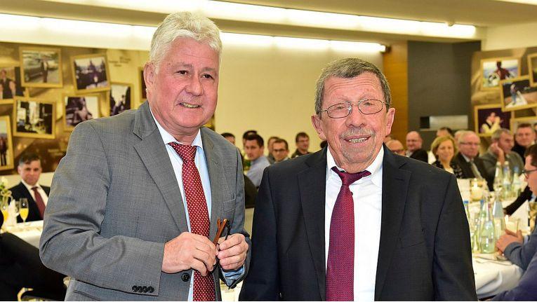 Hama-Chef Rudolph Hanke (rechts) wird zum Jahresende in den Ruhestand gehen. Christoph Thomas wird weiterhin als Geschäftsführer das Unternehmen leiten.