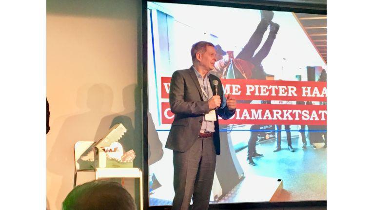Ceconomy-Chef Pieter Haas beim Demo Day des Retailtech Hub