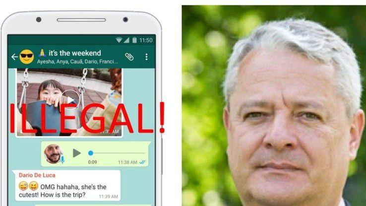 Dr. Lutz Hasse warnt: Fast alle Whatsapp-Nutzer handeln illegal