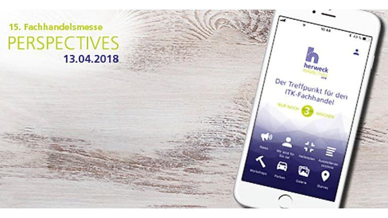"""Herwecks erste App für die Hausmesse """"Perspectives 2018"""" - mit allen wichtigen Infos zu Anfahrt, Workshops und den teilnehmenden Herstellern."""