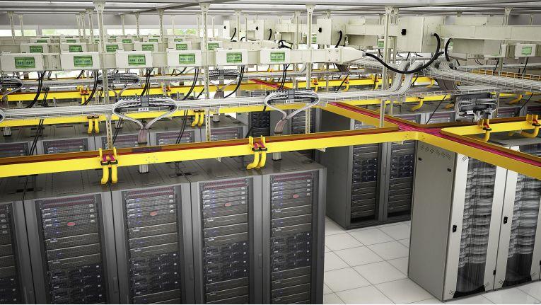 An der gelben Farbe ist das neue Kabelrinnensystem von Schneider Electric leicht zu erkennen.
