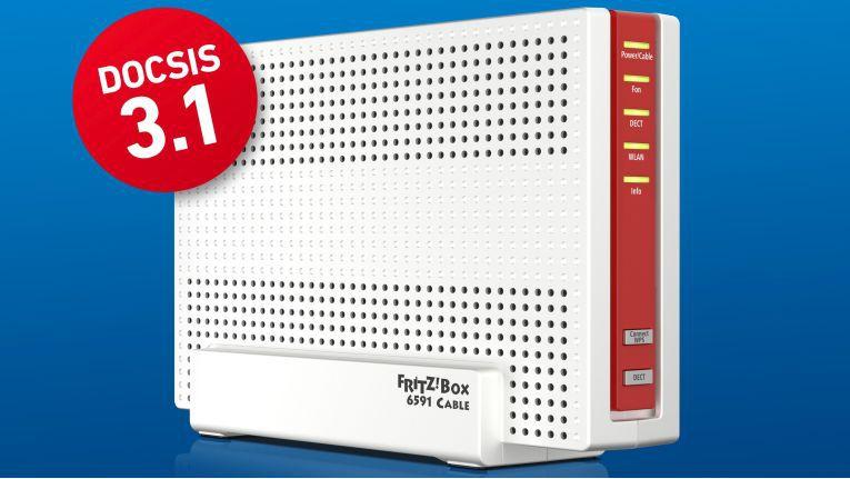 Inn Bochum nutzen erste Kunden die Fritzbox 6591 Cable bereits an einem Anschluß mit DOCSIS 3.1.