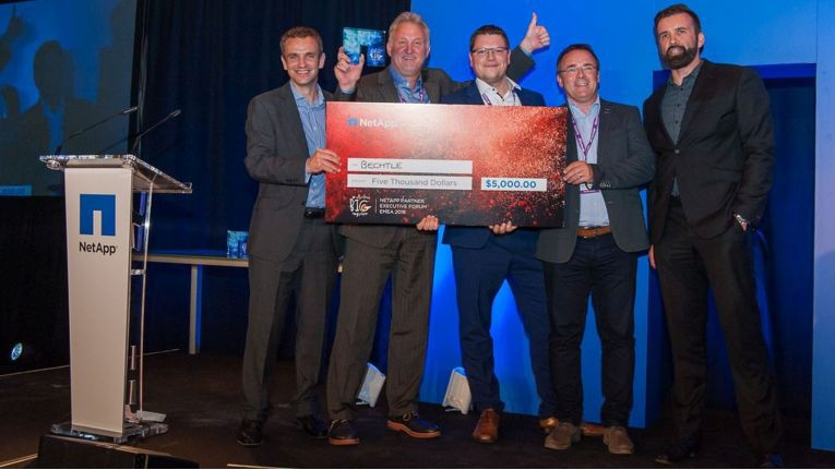 Bechtle hat im vergangenen Jahr mit besonders einfallsreichsten Programmen in Europa die größte Anzahl an Neukunden für NetApp gewonnen - und erhielt verdientermaßen den dafür ausgelobten Award.