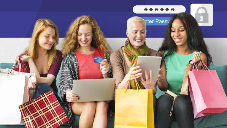 """Trusted Shops unterscheidet zwischen vier Online-Käuferin-Typen: """"Produktexpertin"""", """"Power-Shoperin"""", """"Surferin"""" und """"Klickmuffel""""."""