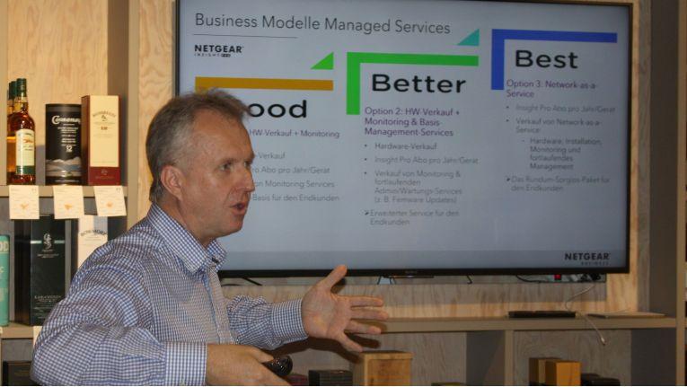 Umso stärker Service-Aspekte in den Vordergrund rücken, umso lukrativer wird eine Managed-Services-Angebot im Netzwerkbereich für den Fachhandel, rät Netgear-Chef Jörg Lösche.