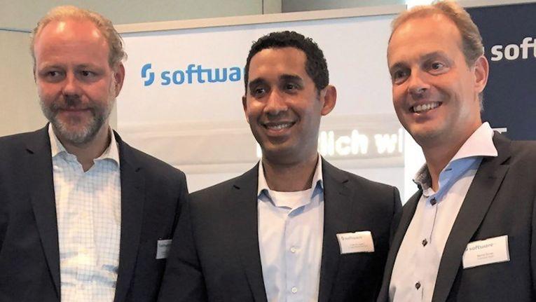 Von links: Gerald Friedberger, Country Manager für die Software AG in Österreich, Francis Cepero, Director Vertical Market Solutions bei A1 Digital, sowie Cumulocity-Gründer Bernd Groß.