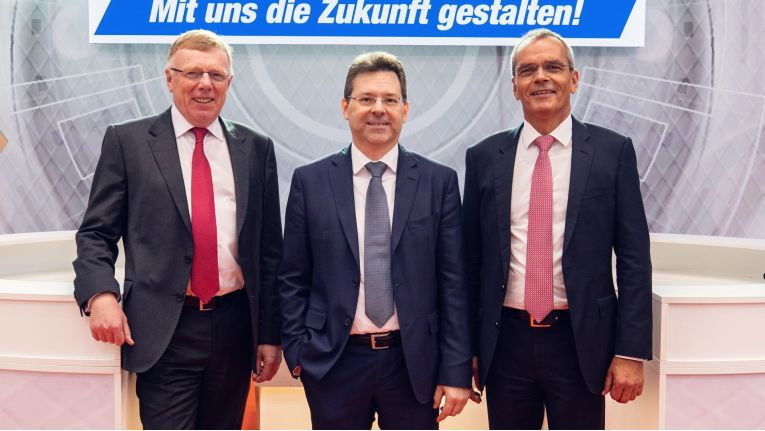 Der Expert-Vorstand bei der Hauptversammlung 2018 (v.l.n.r.): Gerd Christian Hesse, Jochen Ludwig und Stefan Müller