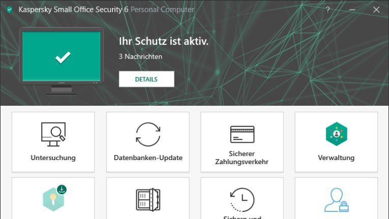 Kaspersky Small Office Security: Umfassende Sicherheitslösung für Unternehmen mit bis zu 25 Nodes.