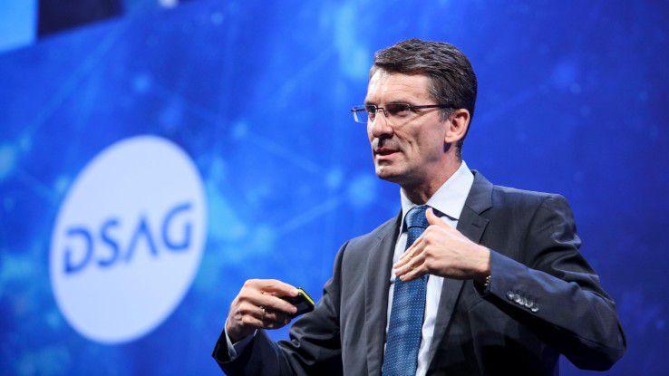 """""""Das digitale Unternehmen muss sich zum intelligenten Unternehmen entwickeln"""", fordert SAP-Vorstand Bernd Leukert die Anwender auf."""