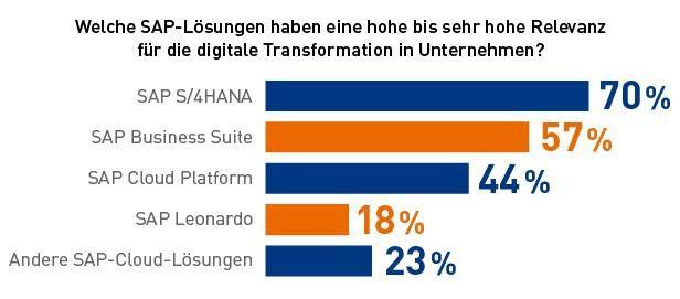 SAPs Cloud-Lösungen spielen für die deutschen Anwender nach wie vor eine eher untergeordnete Rolle in ihren Digitalisierungsvorhaben, so das Ergebnis einer DSAG-Umfrage.