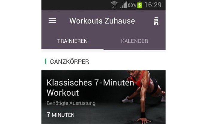 Workouts zuhause - Essensplaner