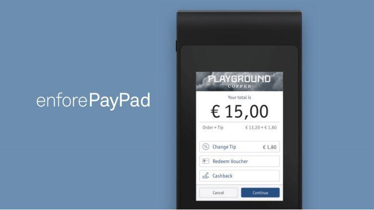 Ein einfaches Kartenlesegrät namens PayPad gehört ebenfalls zum Angebot.