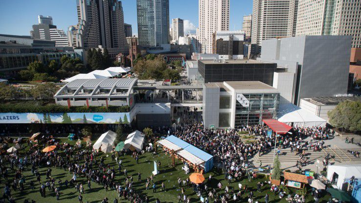 Etwa 170.000 Besucher tummelten sich auf der Salesforce-Kundenkonferenz Dreamforce 2017 in San Francisco.