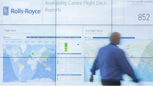 Alles im Blick: Im Aircraft Availability Centre laufen die Daten der einzelnen Triebwerke zusammen.