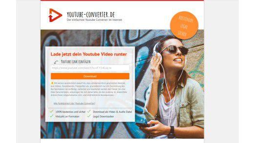 Youtube-converter funktioniert ebenfalls Web-basiert und arbeitet ähnlich wie sein Kollege Convert2mp3.