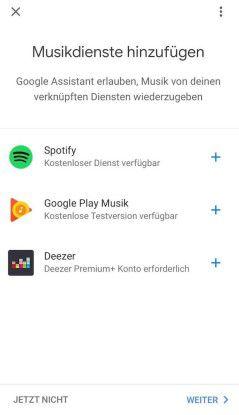 Diese drei Musikdienste unterstützt Google Home.