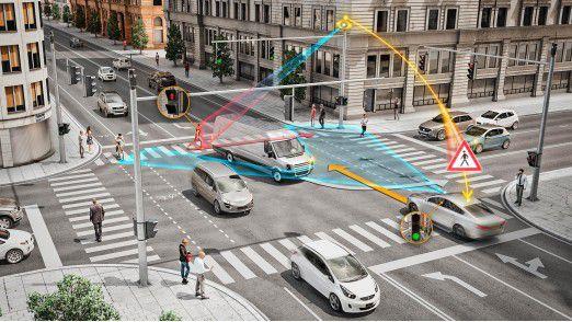 Continental will mit Fahrzeug-zu-X-Kommunikation (V2X) und Sensortechnologien gefährliche Kreuzungen in intelligente und dadurch deutlich sicherere Kreuzungen verwandeln.