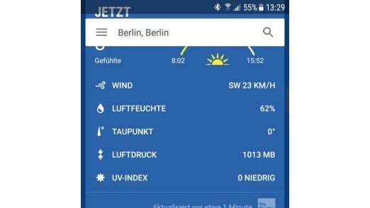 Genaues Wetter für Deutschland