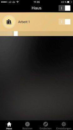 Gute Übersicht: Die App Philips Hue ordnet die Lampen einzelnen Räumen zu.