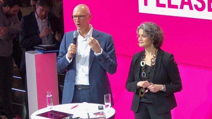 Telekom-Chef Höttges und Claudia Nemat