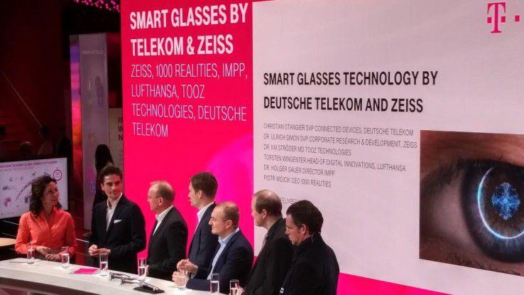 Auf einer Pressekonferenz von Telekom und Zeiss wurden einige Anwendungsfälle für die Datenbrille vorgestellt.