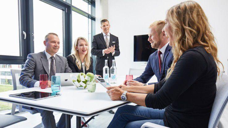Bei Seidel & Friends aus Münster nimmt sich Chef Elmar Seidel (dritter von links) jeden Montag Vormittag ausschließlich für Gespräche mit seinen Mitarbeitern Zeit.