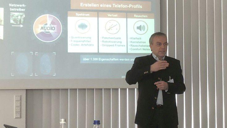 Jürgen Vollmer von Pindrop stellte die Technologie auf dem Cybersecurity-Seminar von IDG Excecutive Education vor.