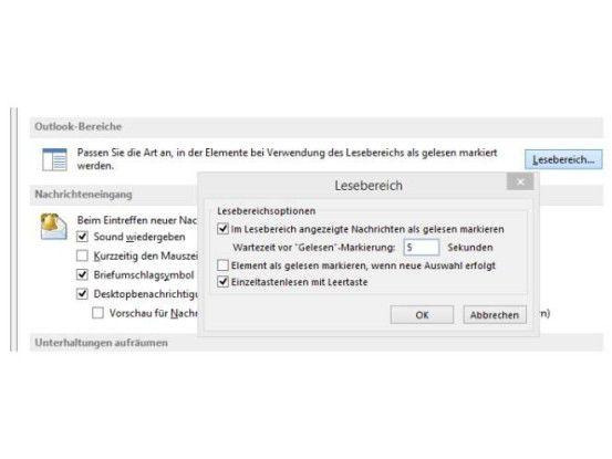 Das Konfigurieren der Gelesen-Markierung in den Outlook-Optionen erleichtert die Verwaltung von Mails