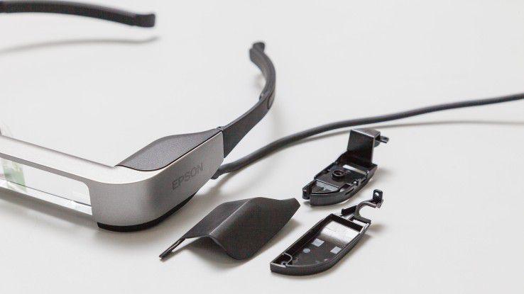 Wurde mit Hilfe von 3D-Druck entwickelt: Die AR-Brille Epson BT-300