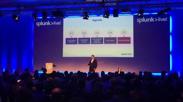 BMW-Mitarbeiter Eduard Saller beschrieb auf der Splunk Live Konferenz in München, wie der Carsharing-Dienst DriveNow anhand von Daten das Flotten-Management optimiert.