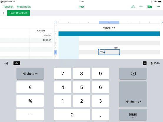 Die iPad-Version von Numbers bekommt die numerische Tastatur zurück.
