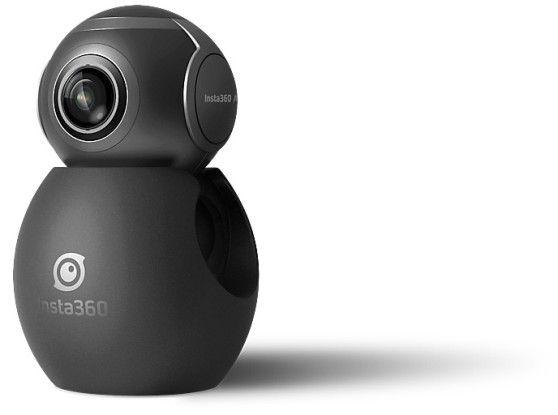 Die 360-Grad-Kamera Insta360 Air kommt mit zwei Fischauge-Objektiven und wird am Micro-USB-C-Anschluss des Mobilgeräts aufgesteckt.