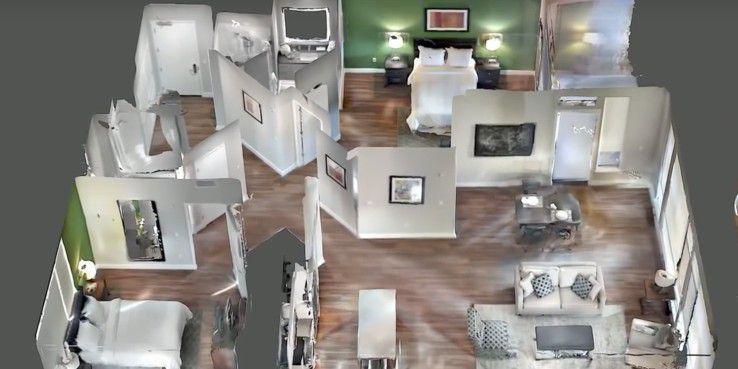Der 3D-Scan einer Wohnung mit Googles Tango.