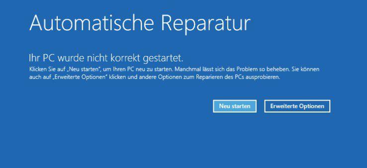 Verwenden der automatischen Reparatur für den abgesicherten Modus.