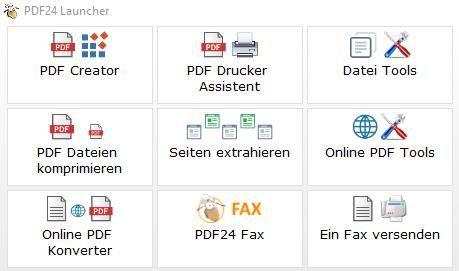 Über die Befehlsfolge PDF Creator / Datei / Speichern / Weiter / Speichern konvertieren Sie ausgewählte Dokumente.