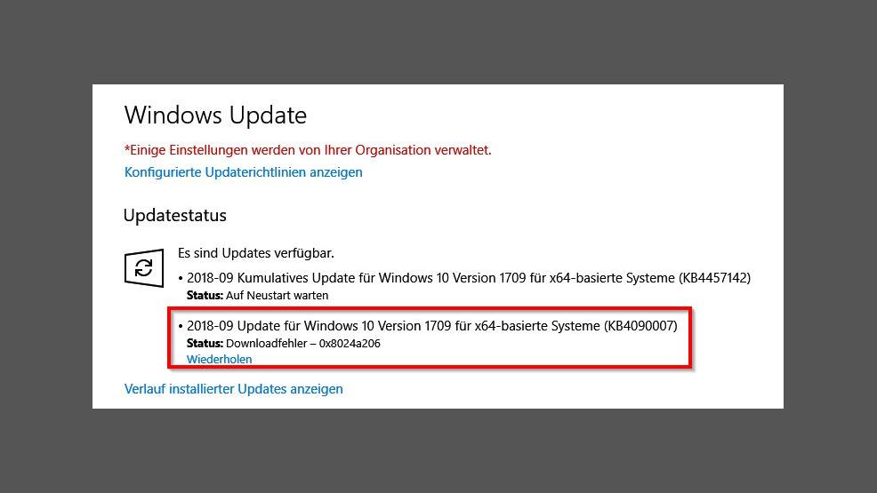 Windows 10: Hängende Windows-Update-Funktion wieder flottmachen